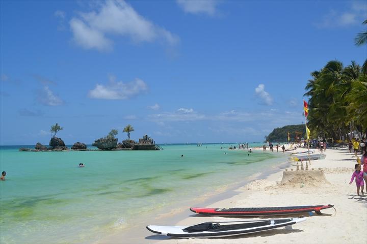 ボラカイ島の4月のアオコ(2)