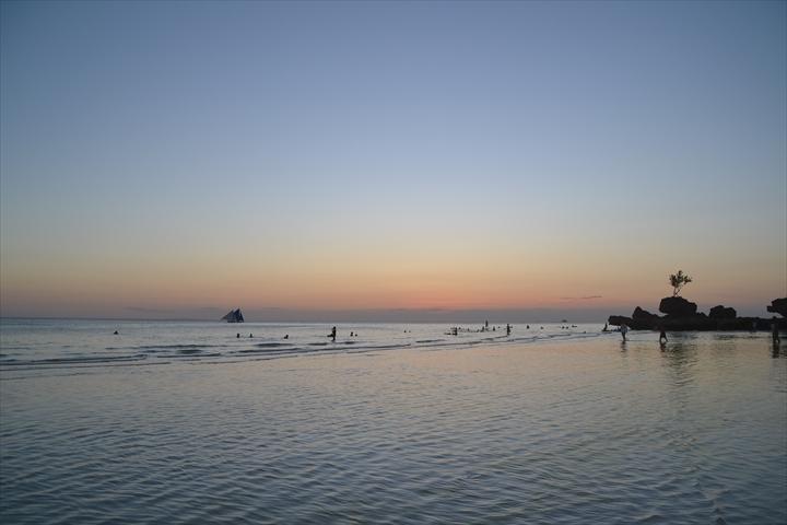 ボラカイ島の5月のサンセット(1)