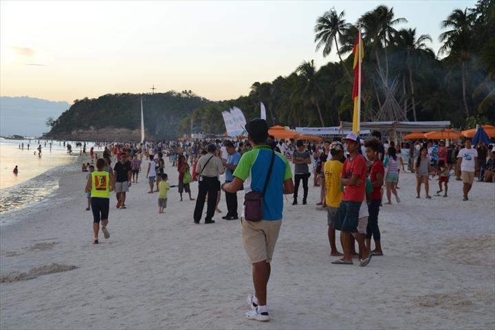 ボラカイ島の5月のサンセット(2)