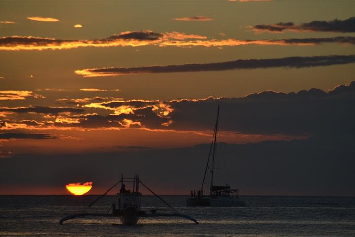ボラカイ島の5月のサンセット(9)