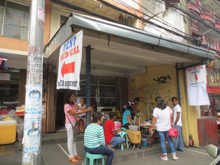 フィリピン免許証の更新(赤いビルの左隣の1階OCNT)
