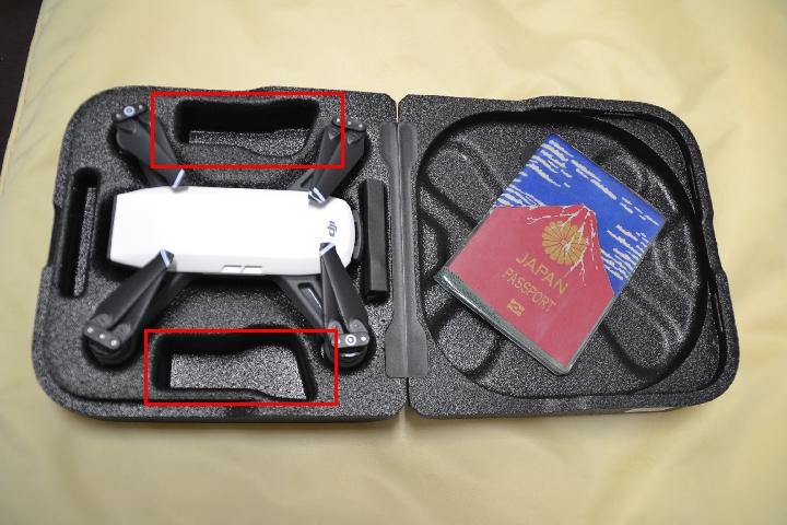 DJI SPARK (本体とパスポート、そしてケース)