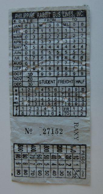アベニダからのフィリピンラビットバスのチケット
