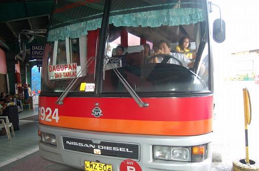 ダオに向かうバスです。ファイブスター同様ダグパン(DAGUPAN)行きです。