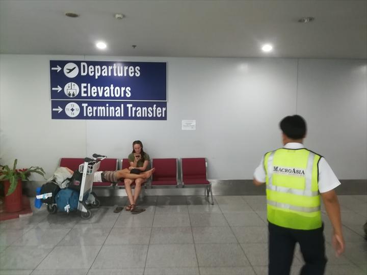マニラ空港の空港敷地内循環バス(案内4)