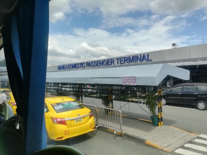 マニラ空港の空港敷地内循環バス(ターミナル4)