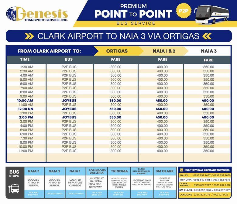 P2Pバス クラーク空港からNAIA