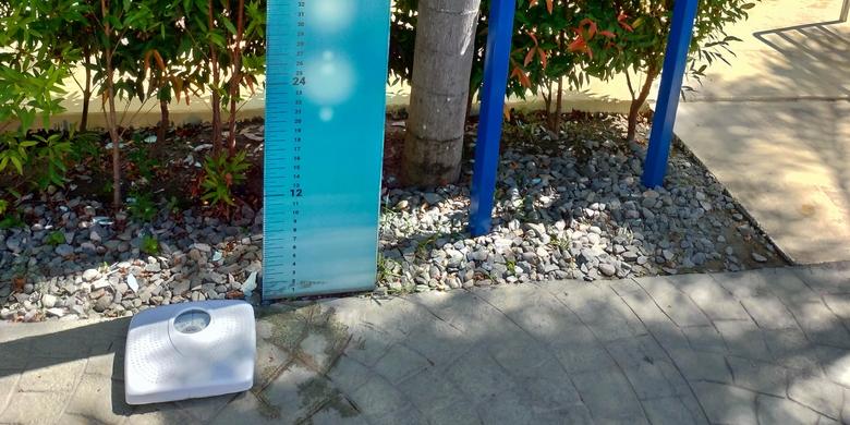 アクアプラネット・ウォーターパーク(体重計と身長計)