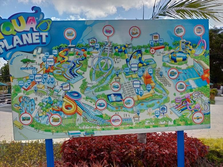 アクアプラネット・ウォーターパーク(施設内マップ)