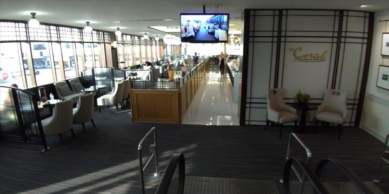 ドムアン国際空港のコーラルラウンジの様子(ボックス席)