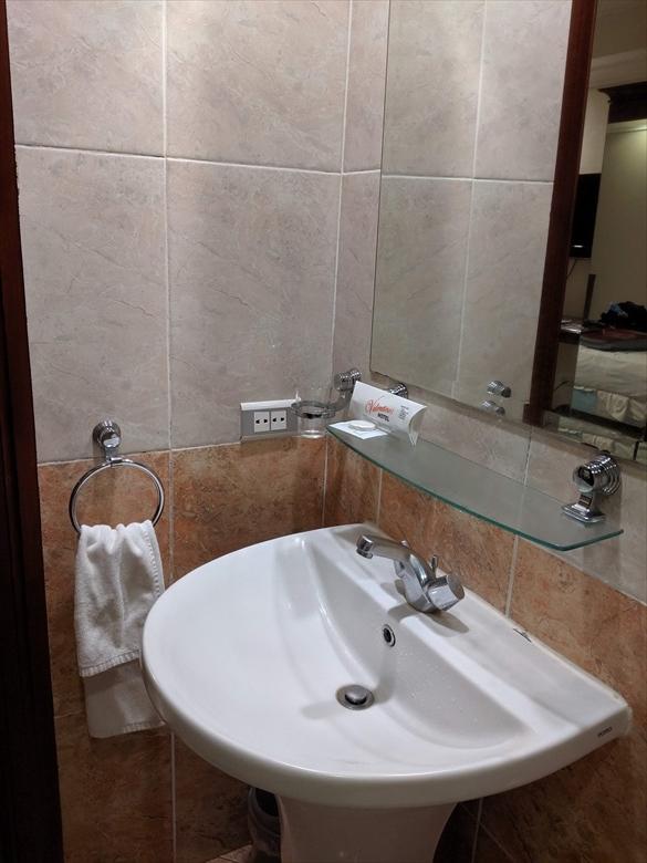 バレンティノズ ホテル(洗面所)