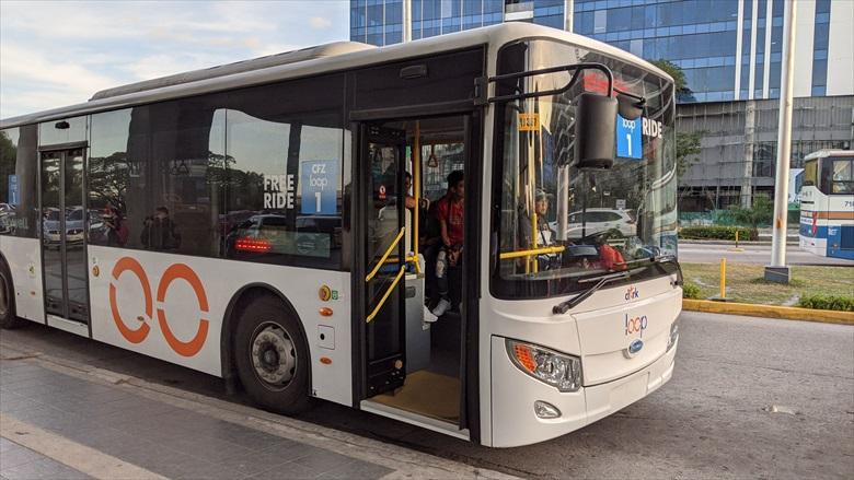 SMクラークからクラークループバスに乗る(1)