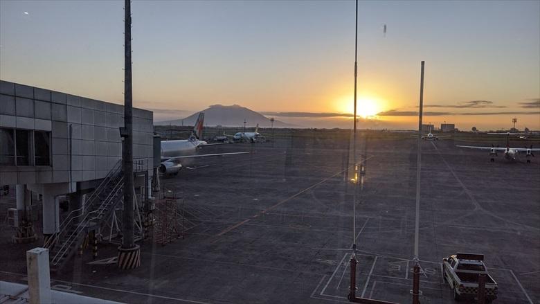 クラーク国際空港のVIPラウンジ(クラーク国際空港からの景色)